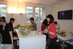 ZFF team preparing the food for our reception