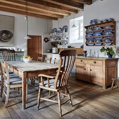 Vintage Kitchen Wooden Country Kitchen - Seasoned restorers took on the challenge of rescuing Lamb's House in Leith - kitchen design on HOUSE by House Rustic Country Kitchens, Country Kitchen Designs, Country Farmhouse, French Country, New Kitchen, Kitchen Decor, Kitchen Ideas, Wooden Kitchen, Vintage Kitchen Accessories
