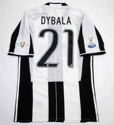 625e75d00 New 2016 Coppa Italia Final Juve Paulo Dybala 21 Black White Soccer Jersey  Football Shirt Trikot Maglia Playera De Futbol Camiseta De Futbol