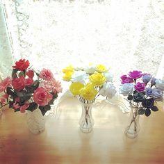 crepe paper flowers crepe paper rose クレープペーパーフラワー