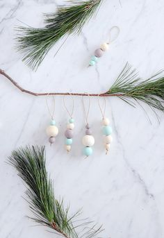 DIY Beads : DIY Wood Bead Ornaments