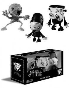 $20.00  Monster Theater PVC Set #2  Monster Theater Show figures are original interpretations by dKiller Panda based on classic horror themes.