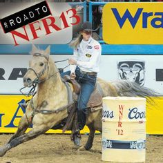 """Our next prediction, courtesy of Butch Knowles, is for barrel racing Knowles' pick? """"I'll pick Sherry Cervi. Stingray has been rock solid and she's going in with the lead."""" Thanks to Eskinazi Stockdale Jarnagin-Bradley Boots for supporting Barrel Racing Saddles, Barrel Racing Horses, Barrel Horse, Horse Saddles, Horse Halters, Reining Horses, Breyer Horses, Western Pleasure Horses, Horse Show Clothes"""