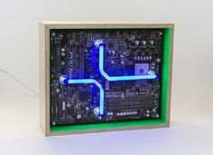 We create [dys]functional spectr-objects using recycled electronics and light. Machine Age, Wooden Frames, Recycling, Objects, Neon, Create, Glass, Tube, Instruments