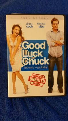 GOOD LUCK CHUCK DVD THE CHUCKED UNRATED VERSION DISC IN MINT CONDITION