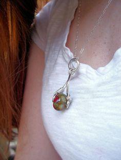 Cremains Urn Bead Necklace Eliza Lampwork door rememberthem