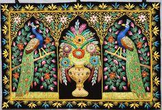 . Zardosi Embroidery, Hand Embroidery, Peacock Pattern, Peacock Bird, Fascinator, Carpet, Birds, Jewels, Frame