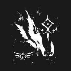 Awesome 'Wolf+Link' design on TeePublic!