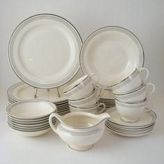 Vintage Set of 4 Homer Laughlin Fiesta 7.25 Side Plates in WHITE Glaze Retro Vintage Classic Fun Dinnerware Mid Century Modern Design