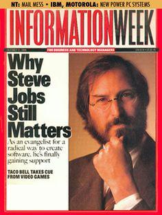 Information Week   Why Steve Jobs Still Matters   October 17th, 1994 Steve Jobs Photo, Steve Jobs Apple, Apple Art, Intp, Cold War, The Magicians, Gates, Robot, Giveaway