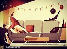 @Regrann_App from @guascoriccardo -  Waiting for new year eve! (Illustration for Donnamoderma) - #regrann  #donnamoderna #illustration #newyearseve #2017 #happy2017 #magazine #illustrazione #rivista