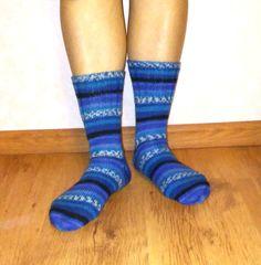 Womens socks from special socks wool colorful knit by Ramzijashop