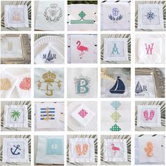 Seahorse linen towels, wedding or hostess gift, kitchen and bath linens, bridal shower gift - FIND MORE HOME & BRIDAL LINENS BY CLICKING THE PHOTO ABOVE!