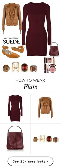"""""""Suede Beauty:      So Stylish: Ankle Wrap Flats contest"""" by im-karla-with-a-k on Polyvore featuring Maison Margiela, 3.1 Phillip Lim and Charlotte Tilbury"""