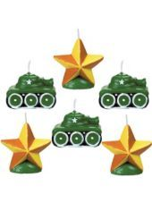 Camouflage Mini Cake Birthday Candles - Party City