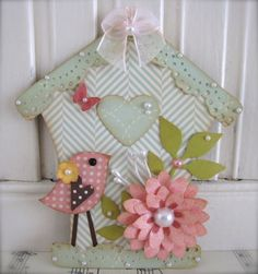 VSROSES - One of a kind hand made paper crafts — Spring Bird House