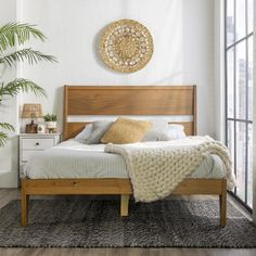 Wood Twin Bed, Solid Wood Bed Frame, Wooden Bed Frames, Simple Wood Bed Frame, Wooden Slats, Wood Beds, Wood Bed Frame Queen, Bamboo Bed Frame, Rattan Bed Frame
