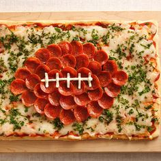 Football Pizza. yes