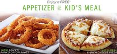 My Alabama Gulf Coast Mommy: Chili's Free Kids Meal or Appetizer w/Adult Entree...