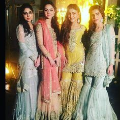 """442 Likes, 24 Comments - IVY Fashion (@theivyofficial) on Instagram: """"#Throwback to when these beautiful girls wore IVY Formals! #lahore #Islamabad #Formals #IVY #bridal…"""""""