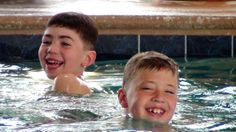 A video still of my grandsons in the in-door pool at the Sea Watch in Ocean City, MD. April 2014.