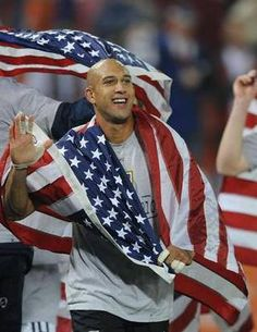 I am so on the World Cup band wagon!!  I don't understand the game but the men are fine!!  GO USA!!!!!