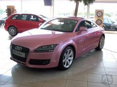 AUDI TT Pink - Girly Cars for Female Drivers! Love Pink Cars ♥ It's the dream car for every girl ALL THINGS PINK!