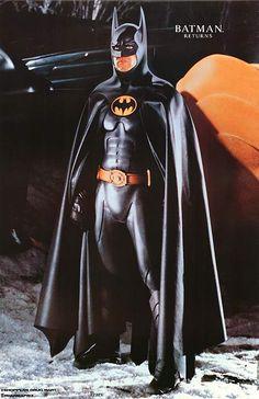 Michael Keaton as Batman in Tim Burton's 1992 'Batman Returns. Batman Y Robin, Batman And Superman, Real Batman, Batman Stuff, Batman Returns, Catwoman Michelle, Marvel Dc, Michael Keaton Batman, Tim Burton Batman