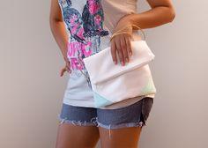 """Handtasche """"Mint"""" mit Kordel von Stoff Schere Papier auf DaWanda.com"""