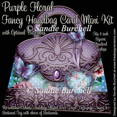 Purple Floral Fancy Handbag Card Mini Kit : The Designer Twins ...where creativity encounters quality and value