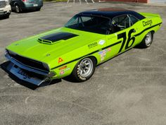 This beautiful 1970 Trans-Am Challenger is the same today, as it was when it rolled onto the grid during the glory days of Trans-Am racing. The same sights, sounds and smells direct from A Genuine Article. Maserati, Lamborghini, Ferrari, R Vinyl, Road Racing, Auto Racing, Car Racer, Car Pictures, Car Pics