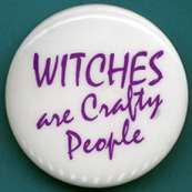 Witches Are Crafty People pin: Available at my store Lune Soleil Enterprises at http://www.lunesoleilmagick.com/store