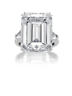 the ultimate icon - Harry Winston emerald cut diamond ring
