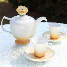 Kütahya Porselen Gül Kahve 2 Kişilik 6 Parça Çay Takımı