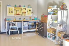 Organize Your Garage with a Pregboard Cabinet