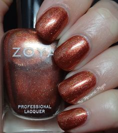 Zoya - Autumn   ZP754   Ignite Fall 2014   August 12, 2014   Autumn by Zoya can be best described as a varnished copper liquid metal.