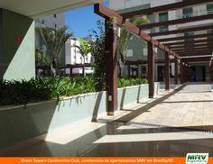 Paisagismo do Green Towers Condomínio Resort. Condomínio fechado MRV entregue em Brasília, na região de Águas Claras, em localização privilegiada.