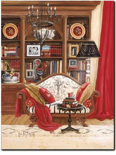 Book Lover - Book Lover Romantic Print ( Giclee ) by Mary Kay Crowley from Cottages and Gardens