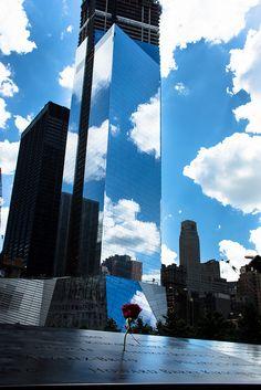 Rose at 9/11 Memorial by Dan Nguyen @ New York City, via Flickr