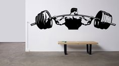 Removable Wall Room Decor Art Vinyl Sticker Mural Decal Sport Muscles Gym Fitness Bodybuilding Logo Dumbbells Motivation Workout Cross F1173