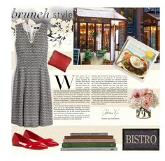 """Brunch with friends!"" by chalsouv ❤ liked on Polyvore featuring Élitis, J.Crew, Cost Plus World Market, Cole Haan, Diane James, Kendra Scott and brunch"