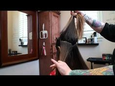 Roni's TRIANGLE & TRAPEZOID'S Balayage pattern - YouTube