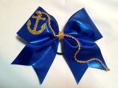 Cheer Bow ANCHOR by FullBidBows on Etsy, $15.00