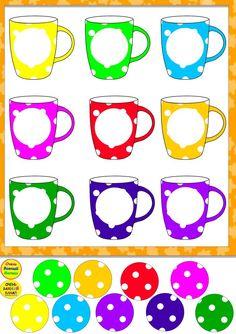 Kindergarten Reading Activities, Preschool Learning Activities, Color Activities, Preschool Worksheets, Preschool Activities, Teaching Kids, Kids Learning, Card Games For Kids, Learning Colors