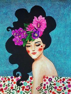 Whispering Heart Canvas Artwork by Hülya Özdemir Canvas Artwork, Canvas Art Prints, Painting Inspiration, Art Inspo, Illustration Art, Illustrations, Portrait Art, Portraits, Love Art