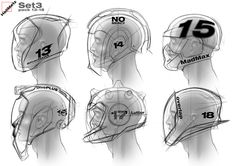 just sketching for fun, something that I like to do, HELMETS!!!