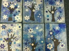 Winter Art Projects, Winter Crafts For Kids, School Art Projects, Art For Kids, Christmas Art, Winter Christmas, January Art, 3rd Grade Art, Preschool Art