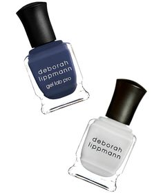 Gray Day (Navy + Blue-Gray) | If you don't want such a stark contrast between your manicure and pedicure, opt for shades that come from the same color family. Now that the weather is turning, swap out your go-to summer white with this sheer, blue-gray hue—you'll get a similarly clean look that's less stark (more subtle). Wear it with this smoky navy for a cool, edgy vibe.