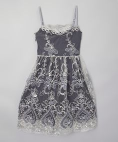 Love this Silver Twinkle Twinkle Dress - Girls by fiveloaves twofish on #zulily! #zulilyfinds