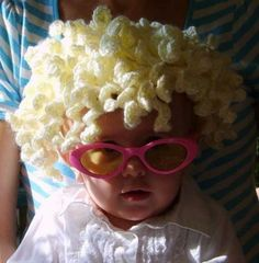 crochet hair hat OMG I have yet to stop laughing! Can u see this on a newborn....with a dad cuddling her up whole wearing the bearded beanie???   Lmao